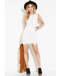 Forever 21 - White Cutout-back Crochet Dress - Lyst