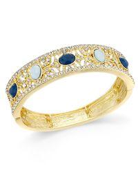 INC International Concepts   Metallic Gold-tone Multi-stone Pave Filigree Stretch Bracelet, Only At Macy's   Lyst