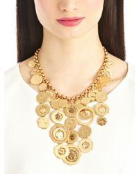 Oscar de la Renta - Metallic Circle Necklace - Lyst
