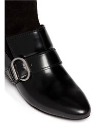 3.1 Phillip Lim - Black 'louie' Suede Leather Combo Loafer Boots - Lyst