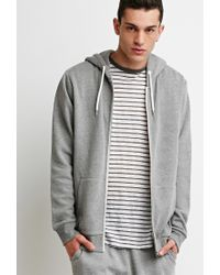 Forever 21 - Gray Zip Up Hoodie for Men - Lyst