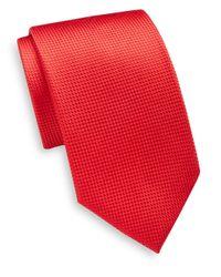 Saint Laurent - Textured Silk Tie for Men - Lyst