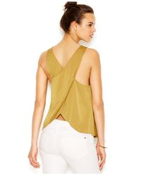 RACHEL Rachel Roy | Blue Sleeveless Cross-back Top | Lyst