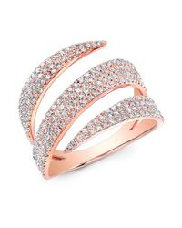 Anne Sisteron - Metallic 14kt Rose Gold Diamond Bandeau Ring - Lyst
