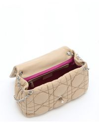 Dior - Natural Beige Cannage Quilted Lambskin Chain Shoulder Bag - Lyst