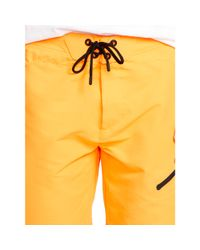 "Ralph Lauren   Orange 9"" Solid White Cap Swim Trunk for Men   Lyst"