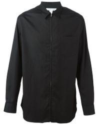 Comme des Garçons - Black Zip Shirt for Men - Lyst