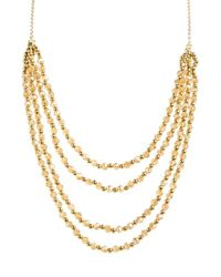 Panacea | Metallic Beaded Multistrand Necklace - Topaz | Lyst