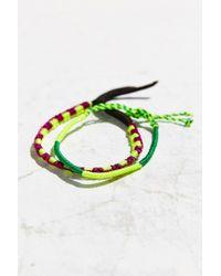 Urban Outfitters | Green Friendship Bracelet Set | Lyst