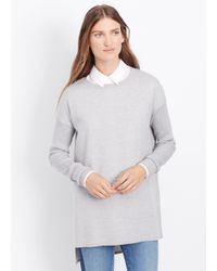 Vince | Gray Double-faced Ribbed Sleeve Tunic | Lyst