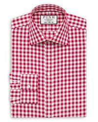 Thomas Pink | Red Alder Check Slim Fit Dress Shirt for Men | Lyst