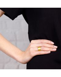 Maya Magal - Metallic Brushed Band Ring Gold - Lyst