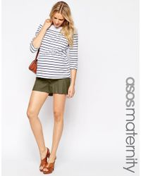 ASOS | Natural Linen Short With Tie | Lyst