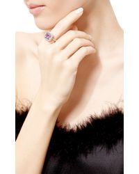 Gioia - Purple Amethyst And Diamonds Ring - Lyst
