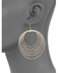 Punch - Metallic Multi-oval Drop Earrings - Lyst