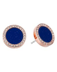Fossil | Blue Disc Studs | Lyst