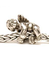Trollbeads | Metallic Cherub Silver Charm Bead | Lyst