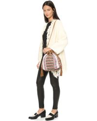 Shashi | Hailey Bucket Bag - Natural | Lyst