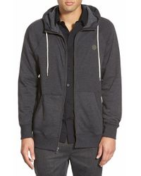 Volcom | Black 'pulli' Zip-up Hoodie for Men | Lyst