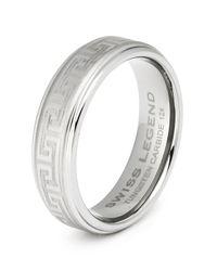 Swiss Legend | Metallic Men's Tungsten Carbide Ring | Lyst