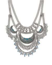 BCBGeneration | Metallic Silver-tone Multi-row Drama Necklace | Lyst