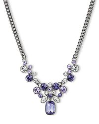 Givenchy - Metallic Tanzanite Crystal Cluster Pendant Necklace - Lyst