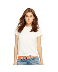 Polo Ralph Lauren | White Cotton Jersey Tee | Lyst