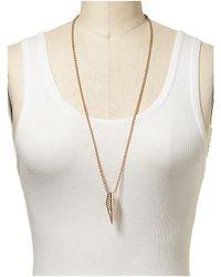 Rebecca Minkoff | Metallic Pave Id Plate Necklace | Lyst