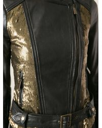 Pinko - Black 'Arthur' Biker Jacket - Lyst