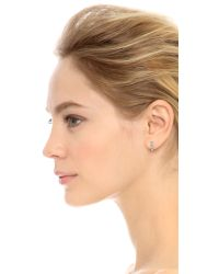 House of Harlow 1960 | Metallic Plateau Earring Set - Silver/white | Lyst