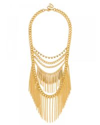 BaubleBar | Multicolor Gold Quill Chain Bib | Lyst