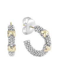 Lagos | Metallic 'diamond Lux' Diamond Small Hoop Earrings | Lyst