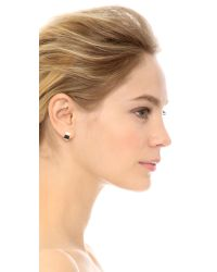 Kristen Elspeth - Metallic Shield Demi Hoop Earrings - Gold - Lyst