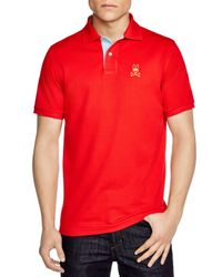 Psycho Bunny - Red St. Bart's Gold Bunny Polo - Regular Fit for Men - Lyst