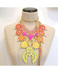 Doloris Petunia | Ombre Squash Blossom Necklace, Orange | Lyst