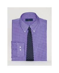 Polo Ralph Lauren | Purple Checked Poplin Dress Shirt for Men | Lyst