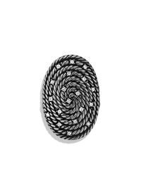 David Yurman | Metallic Cable Coil Ring with Diamonds | Lyst