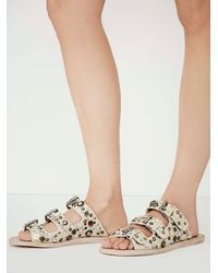 Free People | Natural Faryl Robin + Womens Copper Vail Slide Sandal | Lyst