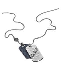 DIESEL - Gray Necklace Dx0917 for Men - Lyst