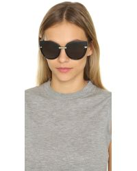 Marc By Marc Jacobs - Cat Eye Sunglasses - Black/brown Grey - Lyst