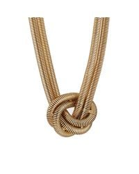 Kenneth Jay Lane | Metallic Women's Knotted Snake-chain Necklace | Lyst