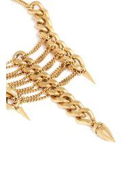 Ela Stone | Metallic 'pamela' Multi Tier Chain Necklace | Lyst