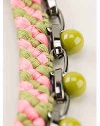 Joomi Lim | Green Beaded Woven Chain Necklace | Lyst
