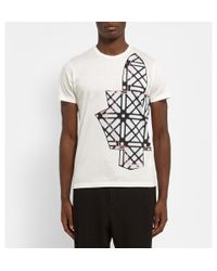 Chalayan | White Printed Cotton-Jersey T-Shirt for Men | Lyst
