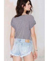 Nasty Gal - Blue Bonita Cutoff Shorts - Wilde - Lyst