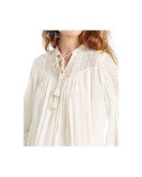 Denim & Supply Ralph Lauren | White Split-neck Boho Top | Lyst