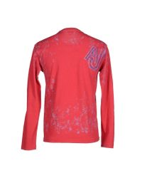 Armani Jeans - Red T-shirt for Men - Lyst
