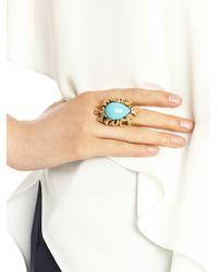 Oscar de la Renta - Blue Resin Coral Branch Ring - Lyst