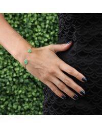 Jemma Wynne - Green Round and Pear Shape Chrysoprase Bangle - Lyst