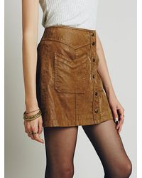 Free People - Brown Come A Little Closer Mini - Lyst